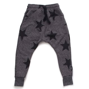 Nununu Star Baggy Pants - Charcoal