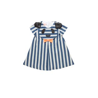Big Hug Dress  - Denim Striped
