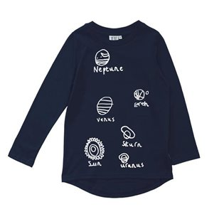 Beau Loves Long Sleeve Fin T-Shirt - Planets
