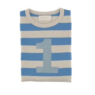 Sailor Blue & Sand Striped Age Top