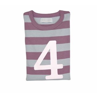 Dusty Violet & Grey Striped Age Top