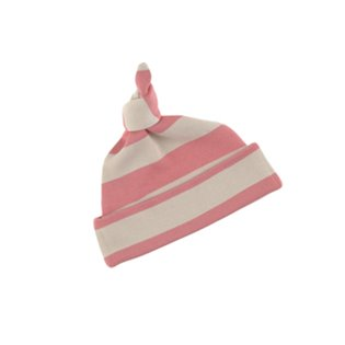 Posy Pink & Sand Striped Hat