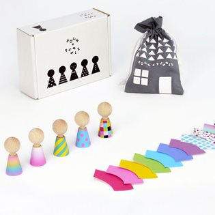 Colour Pebbles - Peg Dolls