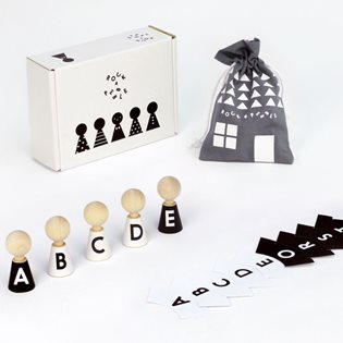 Alphabet Pebbles - Peg Dolls