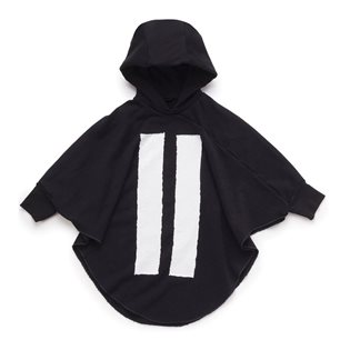 Nununu Hooded Bat Top - Black