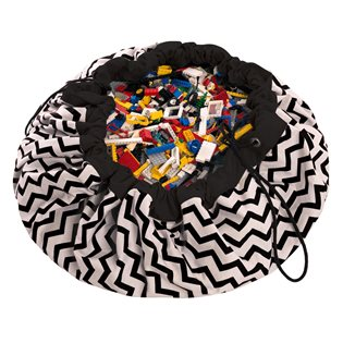 Play & Go Toy Storage Bag - Zigzag Black