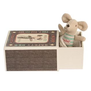 Matchbox Maileg Mouse - Baby Boy