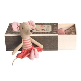 Maileg Matchbox Mouse - Big Sister Dot