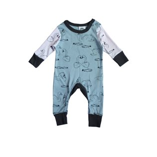 Monty Sleepsuit Swimmers - Sage & Blush