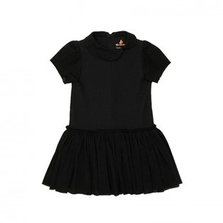 Noe & Zoe Peter Pan Dress - Black Bubble