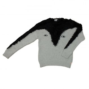 Noe & Zoe Black Penguin Knit Sweater