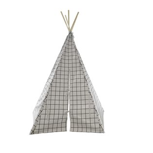 Grid Teepee - White Trim