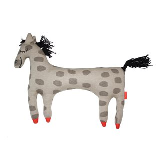 Horse Pippa Cushion - Brown & Black