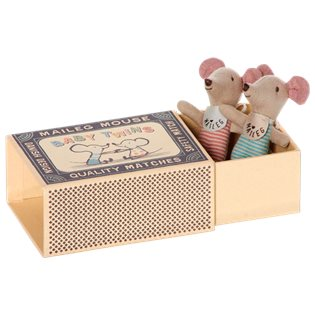 Maileg Matchbox Mouse - Baby Twins