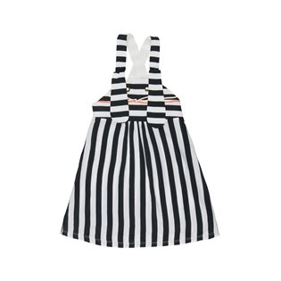 Ninka Dress - Black & White Stripe