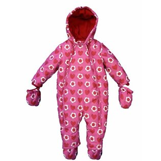 Baby Snowsuit - Flower & Heart