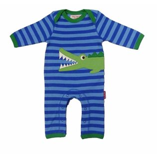 Organic Sleepsuit with Crocodile Applique