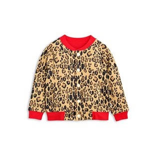 Leopard Reversible Sweat Jacket - Beige