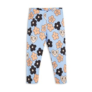 Flowers Leggings - Light Blue