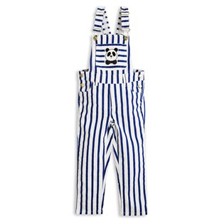 Stripe Dungarees - Blue