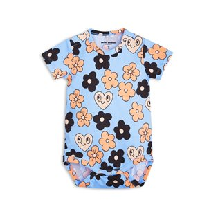 Flowers SS Body - Light Blue