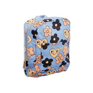 Flowers Backpack - Light Blue