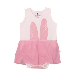 Noe & Zoe Tank Body With Skirt - Rose Bunny