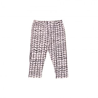 Noe & Zoe Baby Leggings - Black Wave Grid