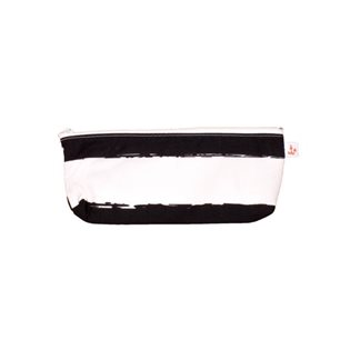 Noe & Zoe Pencil Case - Black Stripes XL