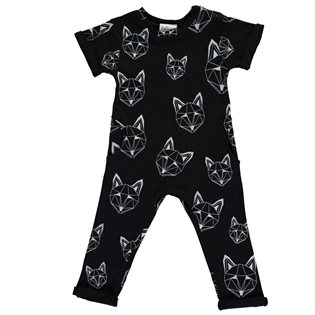 Just Call Me Fox Long Romper - Black