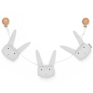 Holger Pram Chain - Rabbit - Dumbo Grey
