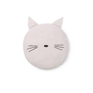 Kaj Knitted Pillow - Cat - Sweet Rose