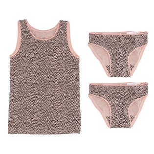 Juliette Underwear - Silver Pink AOP Mini Pebbles