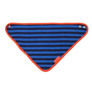 Organic Dribble Bib - Blue/ Orange