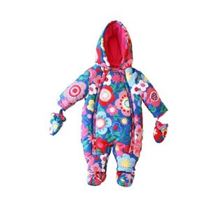 Baby Snowsuit - Flowers