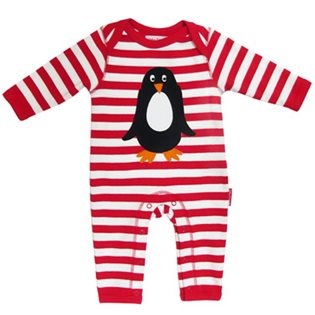 Organic Sleepsuit with Penguin Applique