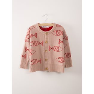 Shoaling Fish Knitted Cardigan