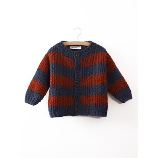 Big Stripes Knitted Cardigan