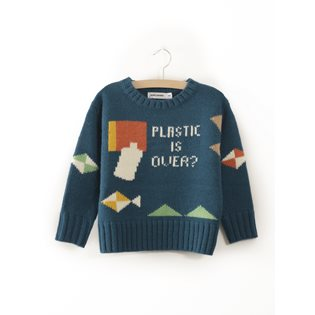 Plastic Is Over? Intarsia Knitted Jumper