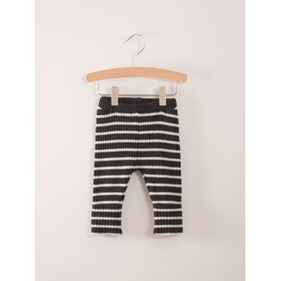 Black Stripes Baby Knitted Leggings