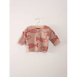 Shoaling Fish Baby Knitted Jumper