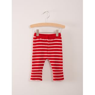 Red Stripes Baby Knitted Leggings