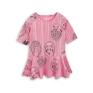 Fox Family Dress - Pink