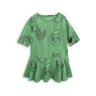 Fox Family Dress - Green