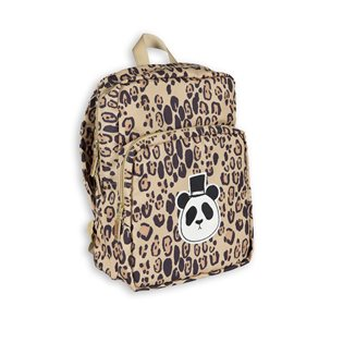 Mini Rodini Panda Backpack - Beige/Leopard Print