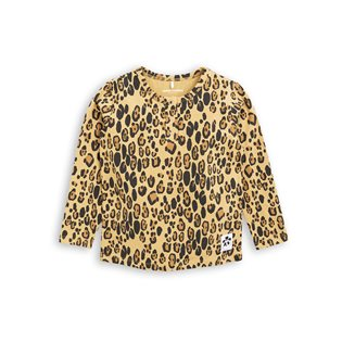 Basic Leopard Long Sleeve Grandpa - Beige