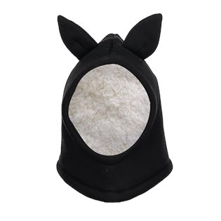Beau Loves Baby Rabbit Balaclava With Ears - Black