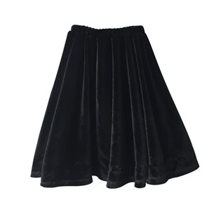 Beau Loves Velvet Long Skirt - Black