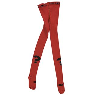 Beau Loves True Red Tights - Question Mark