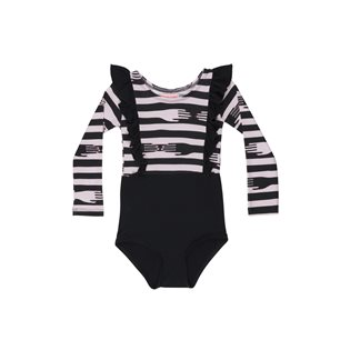 Bendy Bertha Leotard - Black/Stripes